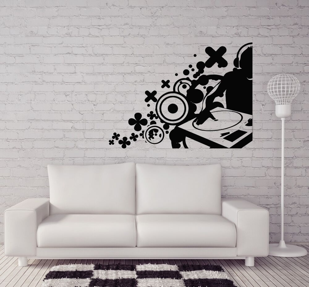 Dj house pop hip hop artist rap decor wall sticker vinyl for Hip home decor