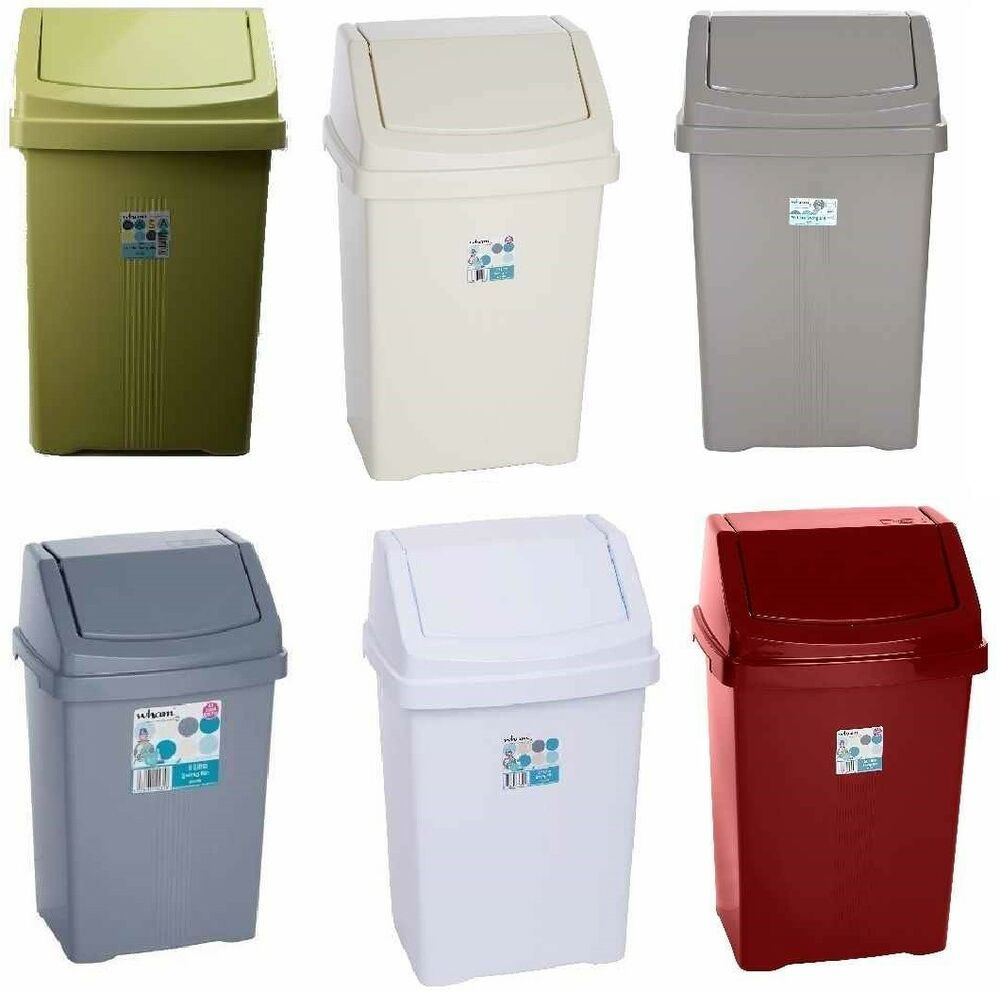 Kitchen Waste Bins: PLASTIC SWING WASTE BIN 8L 25L 15L 50L 50 LITRE KITCHEN