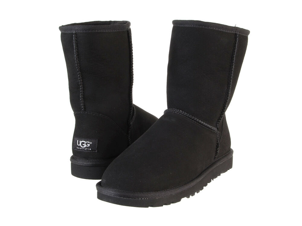 women ugg australia classic short boot 5825 black 100 authentic brand new ebay. Black Bedroom Furniture Sets. Home Design Ideas