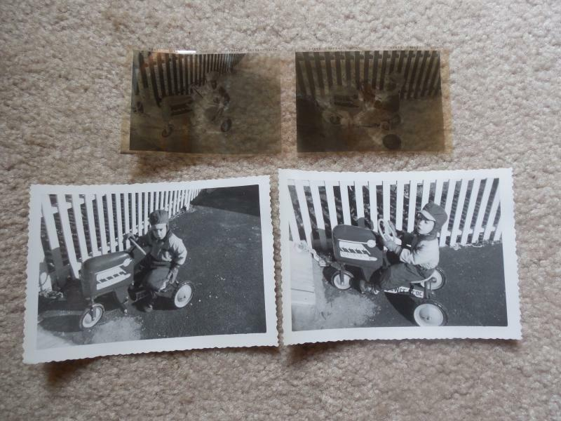 Junior Pedal Tractors Antique : Vintage s boy riding power trac pedal ride on tractor
