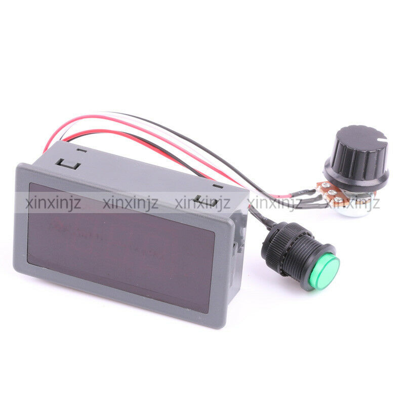Digital display led 6v 12v 24v pwm dc motor controller for Variable speed control electric motor