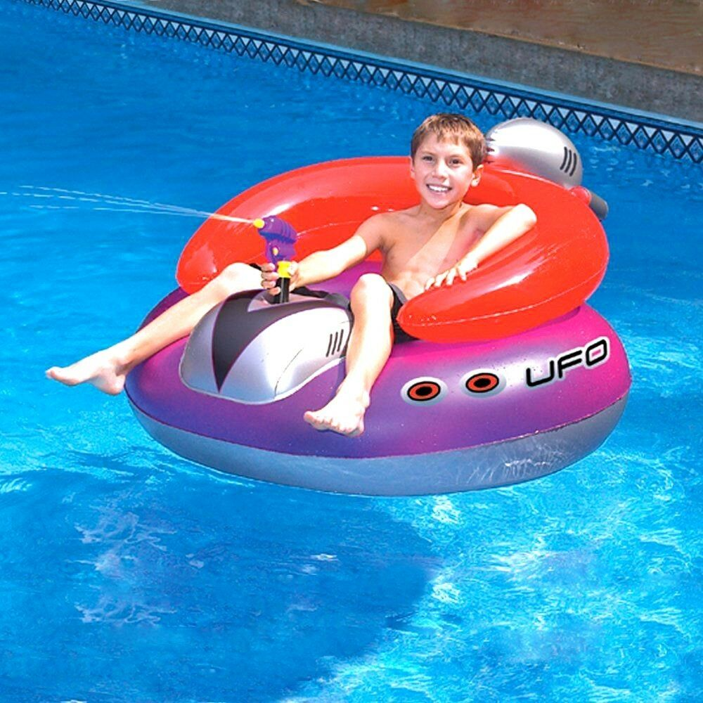 Inflatable Water Swimming Pool Backyard Garden Sea Ufo Gun Rocker Float Toys Kid Ebay