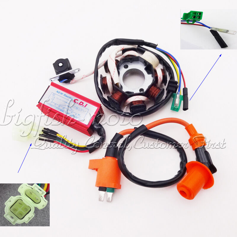 magneto stator ignition coil cdi gy6 125 150cc chinese atv. Black Bedroom Furniture Sets. Home Design Ideas