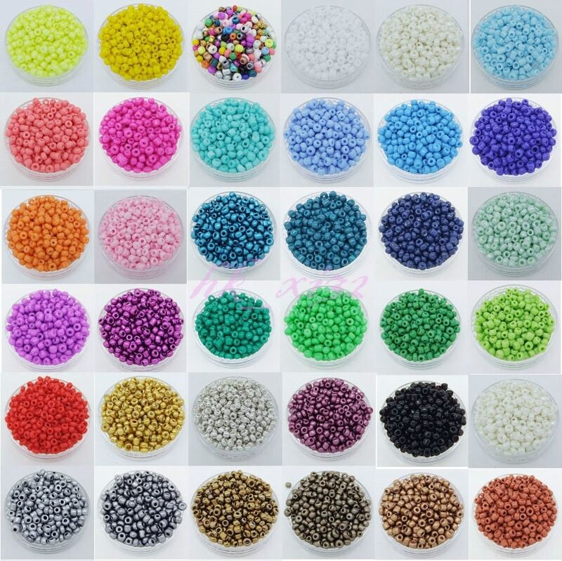 1000pcs 2mm czech glass seed round spacer beads jewelry for Natural seeds for jewelry making