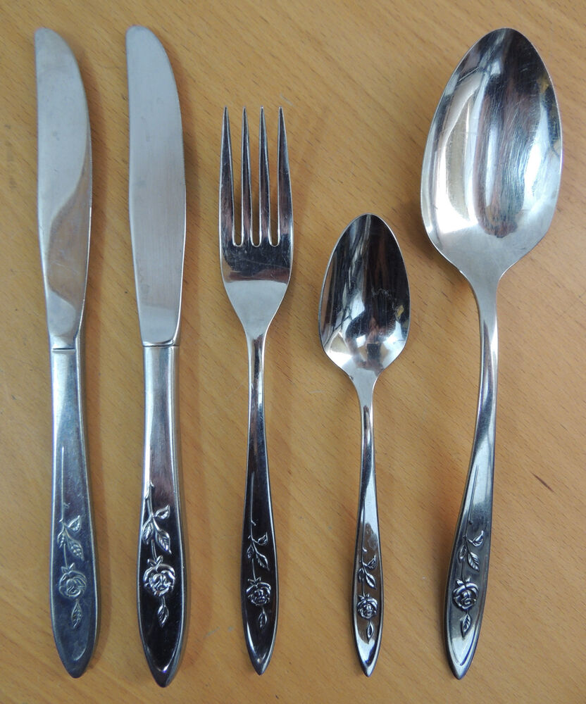 oneida community stainless steel flatware my rose your choice ebay. Black Bedroom Furniture Sets. Home Design Ideas