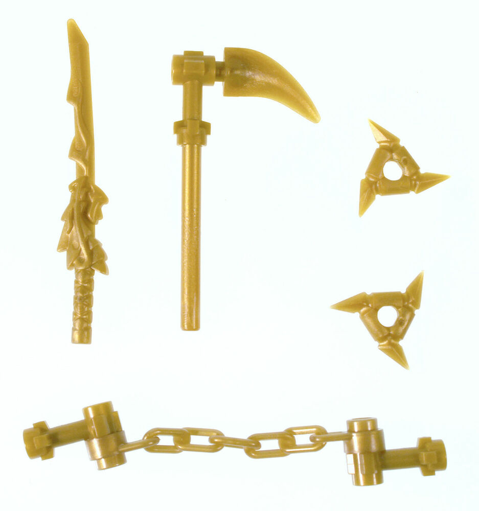 Lego ninjago minifigure golden weapons pack dragon sword - Lego ninjago ninja ...