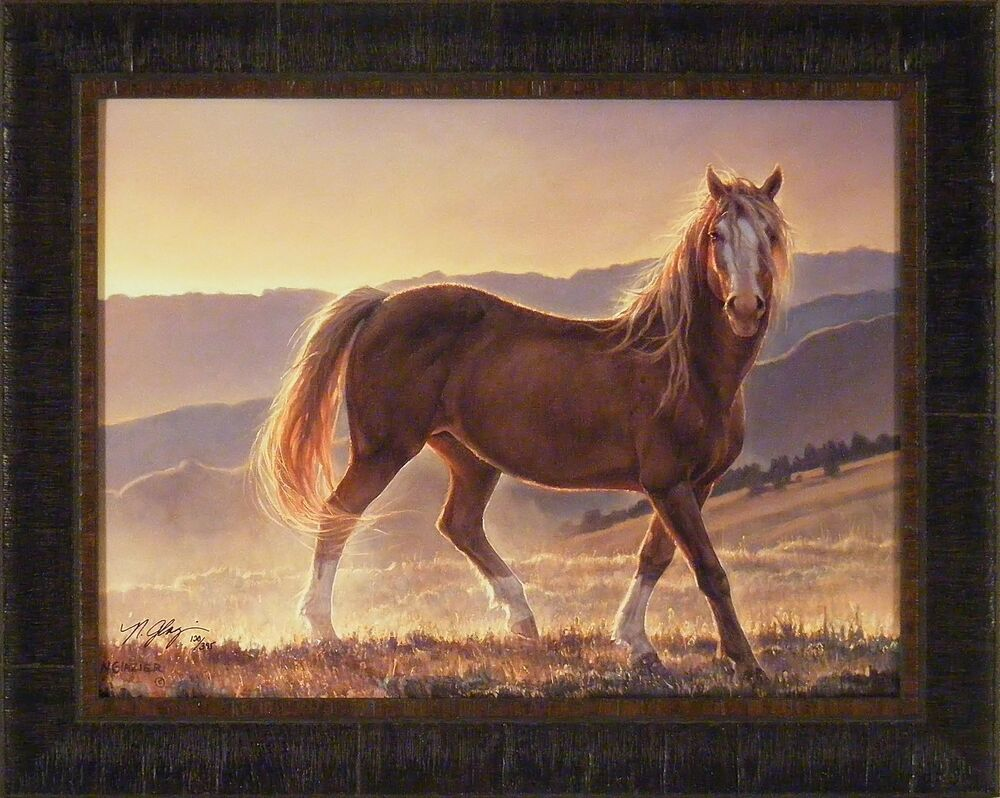 Pictures Of Horses To Print BLAZE by Nancy Glazier 19X24 FRAMED ART Print HORSE