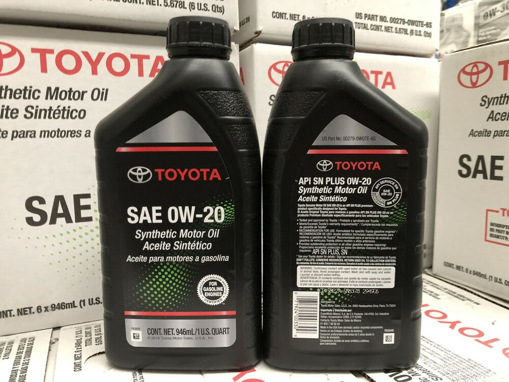 Genuine Toyota Full Synthetic 0w 20 Engine Oil 1 Quart 0