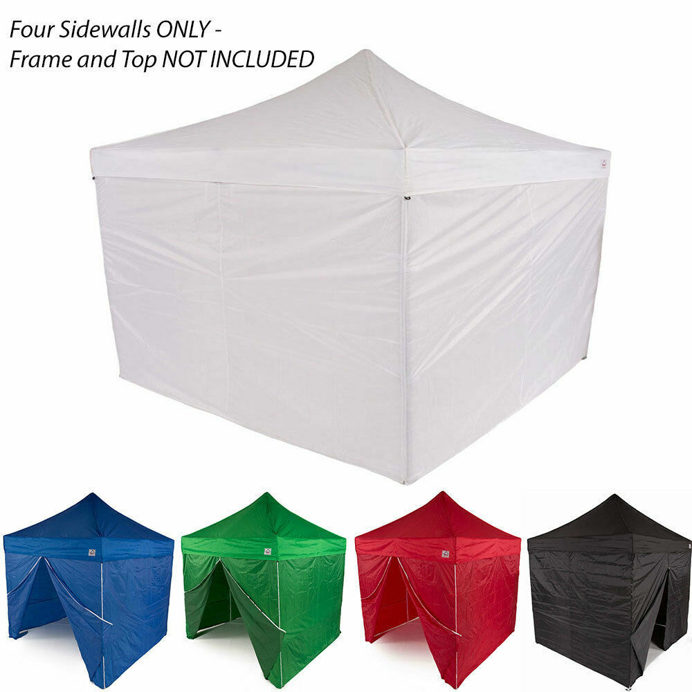 10x10 Ez Pop Up Canopy Tent Sidewalls Kit 4 Walls Only