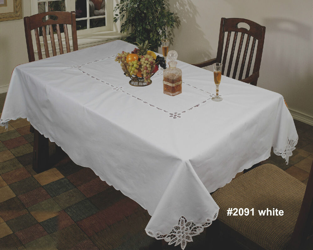 Battenburg Lace Tablecloth White Cotton 60x84 Quot 60x104 Quot Or