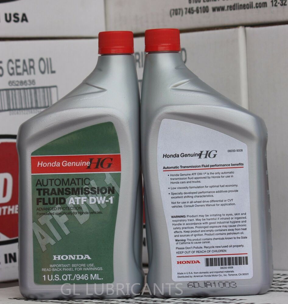 4 X Genuine Honda Atf Dw 1 Atf Oil Automatic Transmission Fluid Liter Ebay