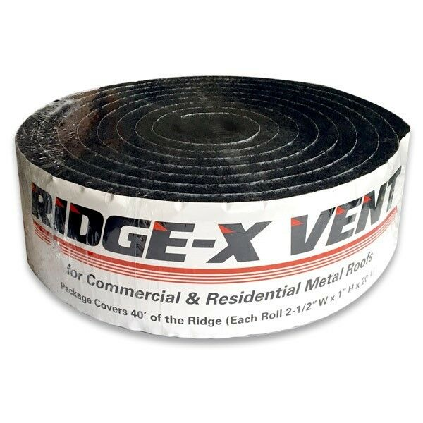 Ridge-X Vent LCF Vent Foam for Metal/Residential Roofing ...
