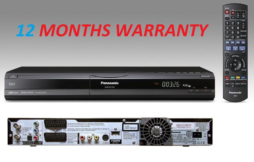 panasonic dmr ex768 dvd hdd recorder 160gb hdmi freeview. Black Bedroom Furniture Sets. Home Design Ideas