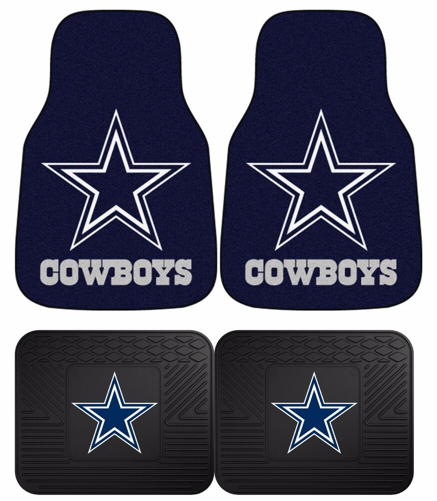 Dallas Cowboys Nfl Floor Mats 2 Amp 4 Pc Sets For Cars