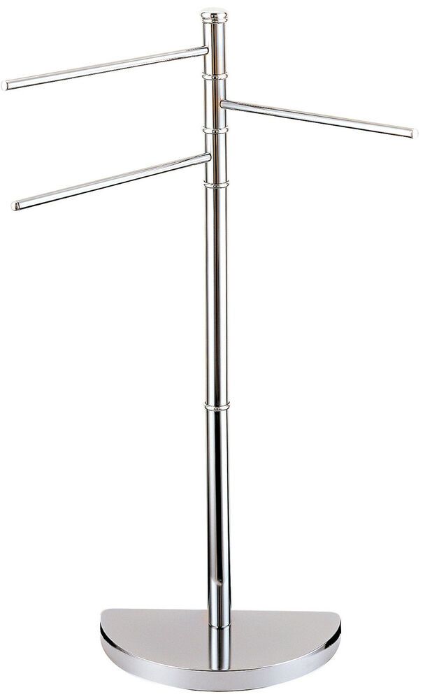 Lunar Chrome 3 Arm Free Standing Bathroom Towel Rail Rack Showerdrape Ebay
