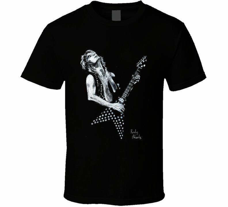 randy rhoads guitar tribute t shirt tshirt t shirt tee ebay. Black Bedroom Furniture Sets. Home Design Ideas