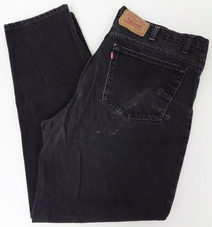 levis mens 550 relaxed fit jeans black 42x32 42 32 free shipping 218 ebay. Black Bedroom Furniture Sets. Home Design Ideas