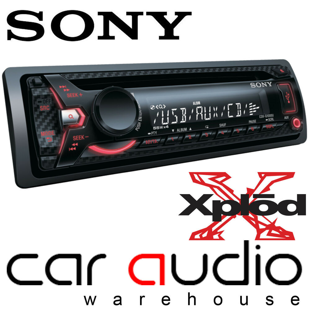 sony cdx g1100u 55 x 4 watts car stereo cd mp3 radio usb. Black Bedroom Furniture Sets. Home Design Ideas