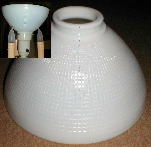 10 Quot Opal Glass Diffuser For Old Antique Floor Lamp