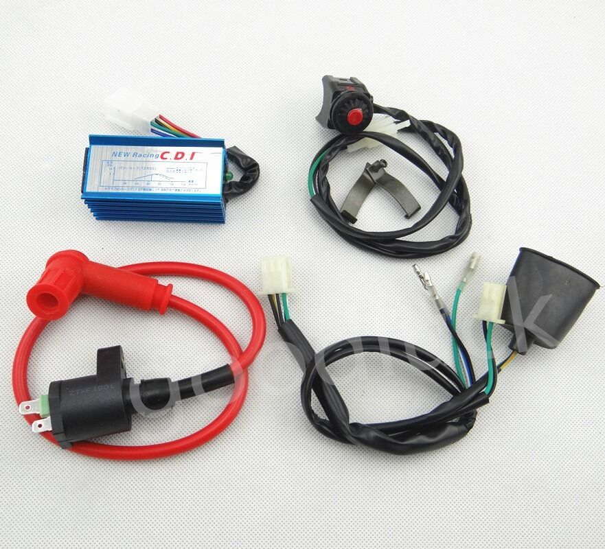Wiring loom kill switch race ignition coil and cdi for
