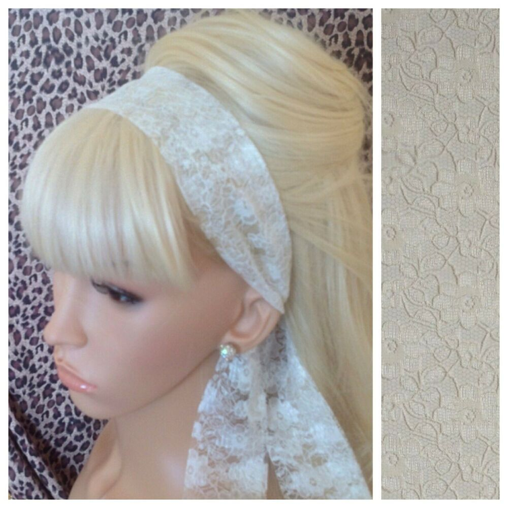 hair band styles for hair floral lace vintage scarf style 50s 60s 80s 1825