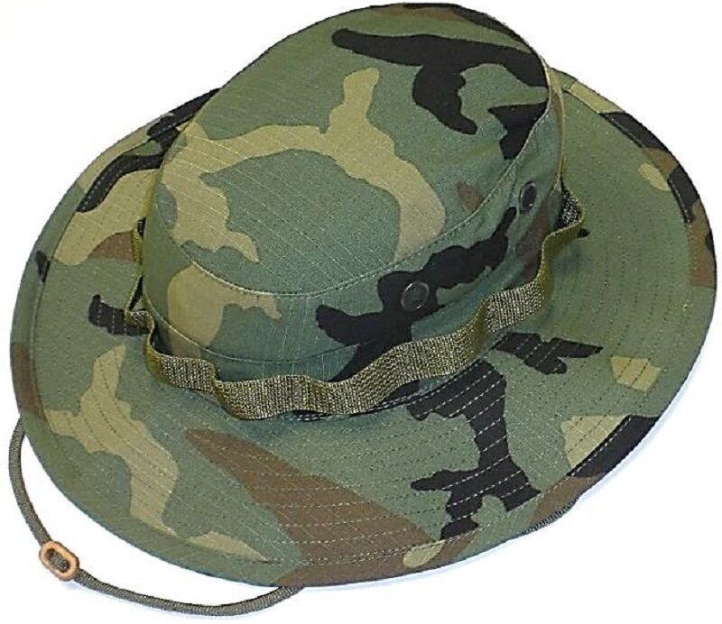 Mil Issue Tactical Woodland Camouflage Boonie Busch Hat