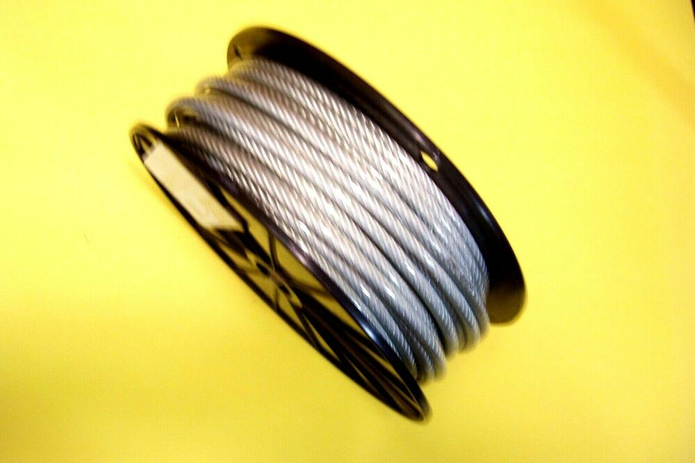 Clear Vinyl Coated Wire Rope Cable 1 4 Quot 5 16 Quot 7x19