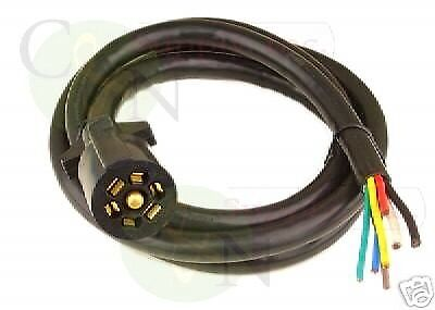 bargman 7 way molded 8 foot trailer wire light plug cord connector bargman 7 way molded 8 foot trailer wire light plug cord connector rv camper oem