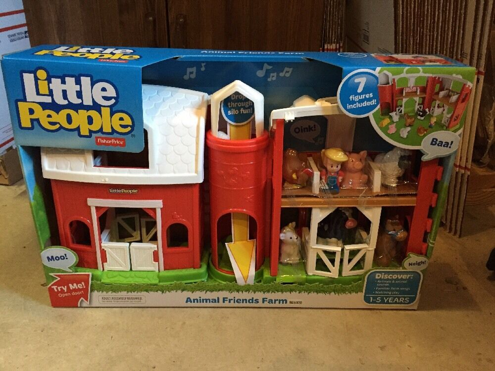 Fisher Price Little People Animal Friends Farm Barn Play ...