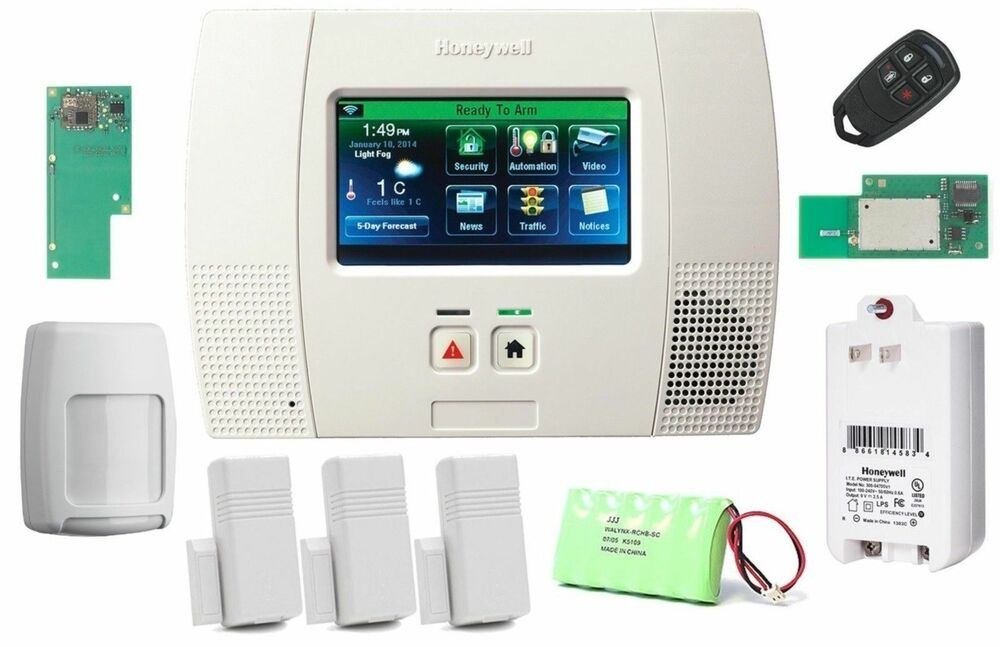 honeywell lynx touch l5200 wireless alarm kit with wifi. Black Bedroom Furniture Sets. Home Design Ideas