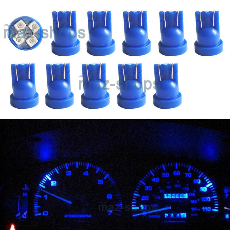 10pcs blue instrument panel cluster 194 t10 led light. Black Bedroom Furniture Sets. Home Design Ideas