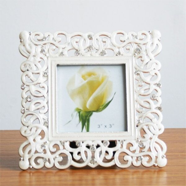 Fashion crystal white wedding home decor photo frame alloy Crystal home decor