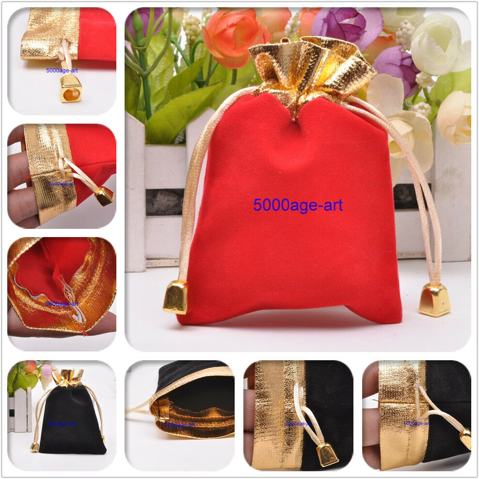 Wedding Gift Bags Wholesale: Wholesale Red Black Velvet Wedding Party Favor Gift Candy