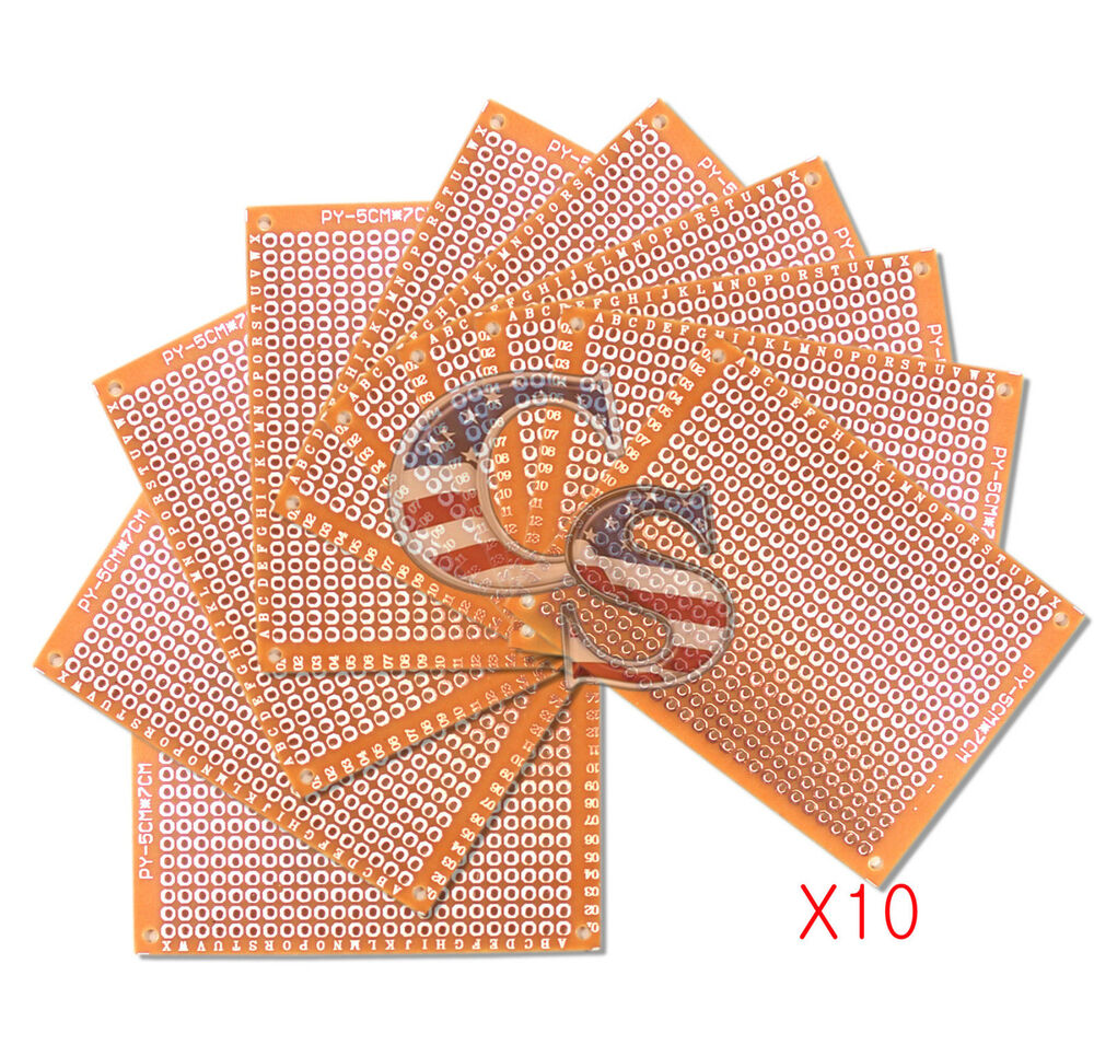 10pcs 5 X 7 Cm Diy Prototype Matrix Paper Pcb Universal Board Circuit Artwork Stripboard And Breadboard Layout Prototyping Kit Ebay
