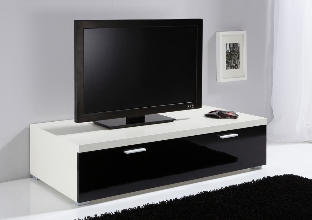 slumberhaus german low tv unit tv cabinet tv stand white