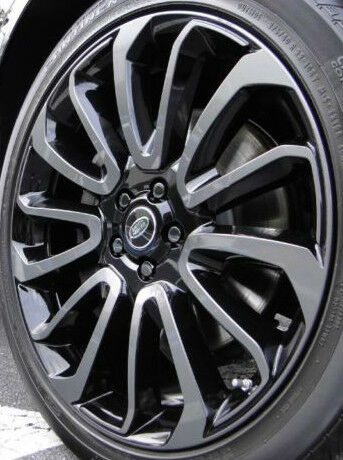 "Range Rover Autobiography >> Range Rover 2013+ L405 OEM 22"" x 9.5"" 7 Spoke Wheel Set 4 Stealth Pack Black New 