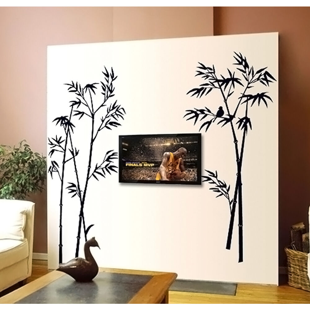 Black tree branch tv background decor wall sticker for Black tree mural