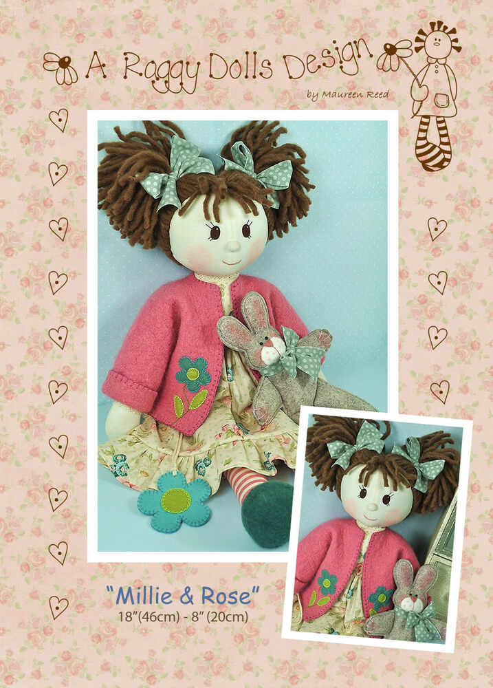 Millie rose rag doll sewing craft pattern primitive for Crafts that sell on ebay