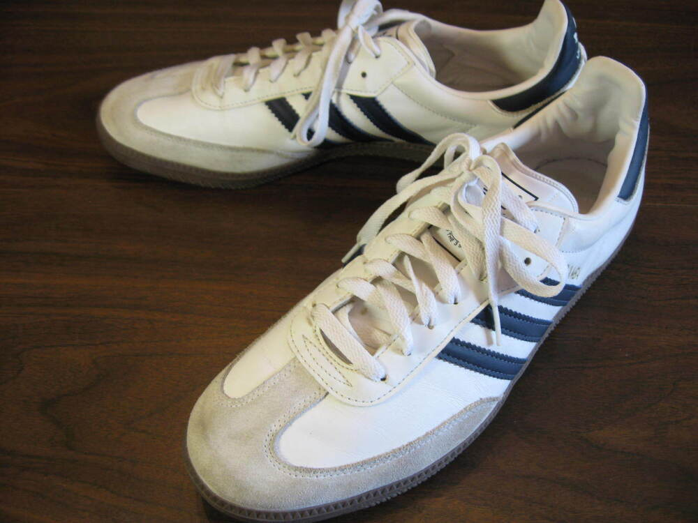 adidas samba leather white