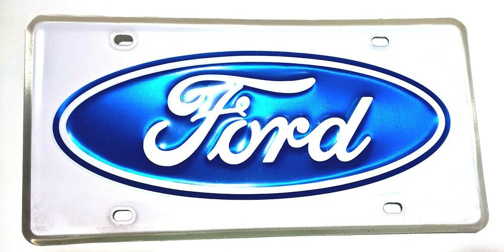 License Plate Ford Oval Ebay