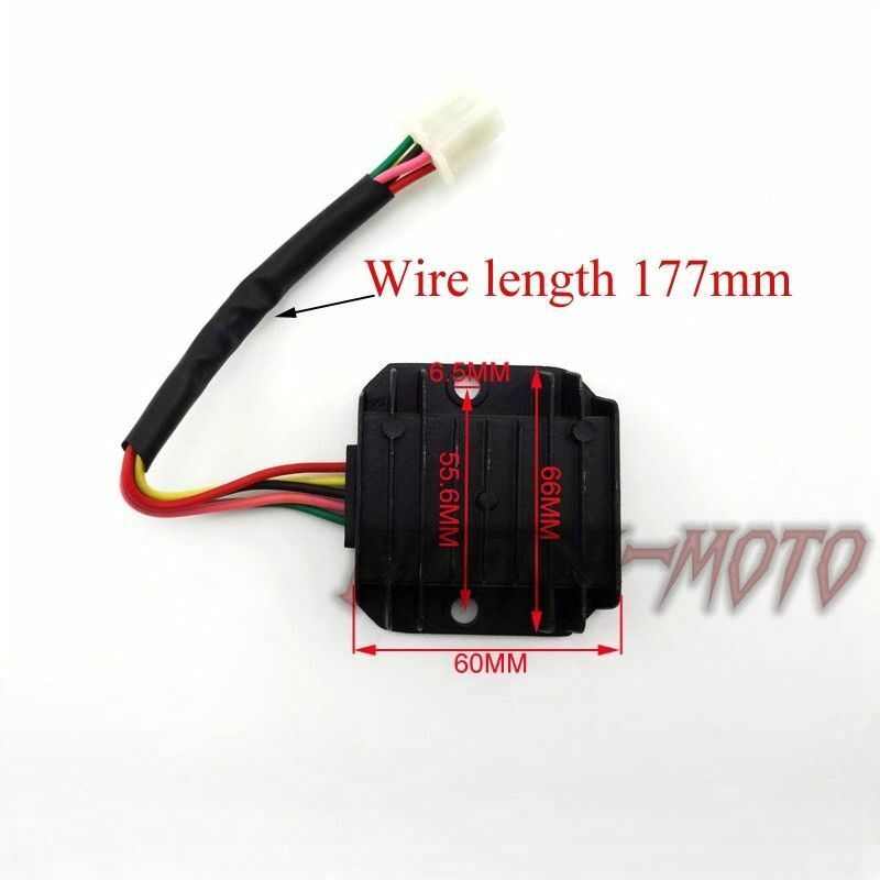 5 wire atv voltage regulator rectifier 125cc 150cc gy6 moped scooter ebay
