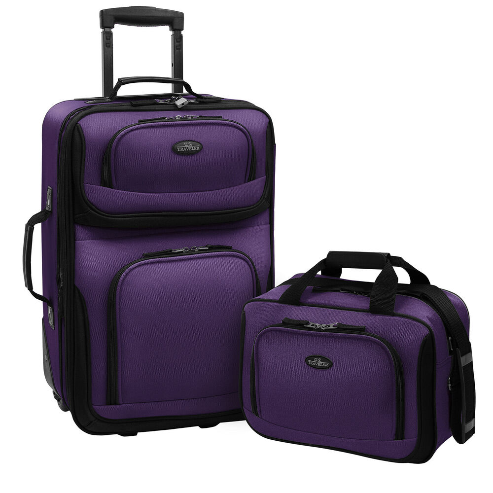 Carry-on Rio Purple Rolling Lightweight Expandable Suitcase Tote ...