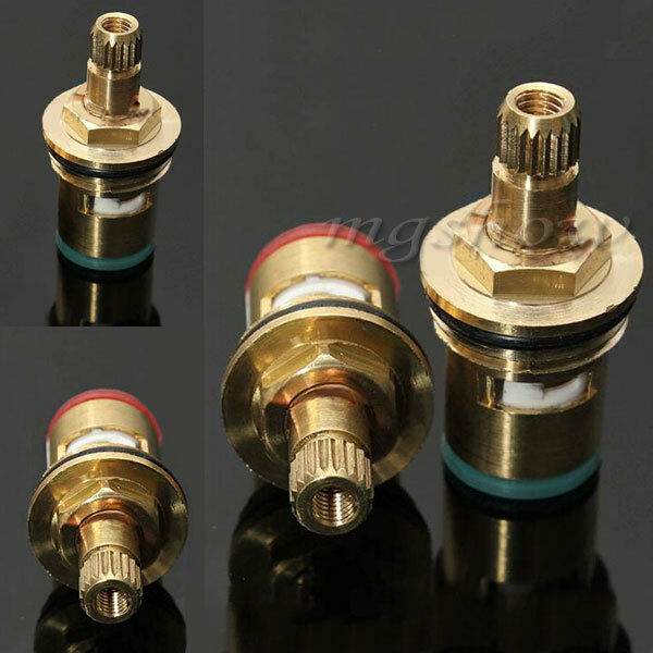 Hot cold tap faucet replacement brass quarter turn ceramic
