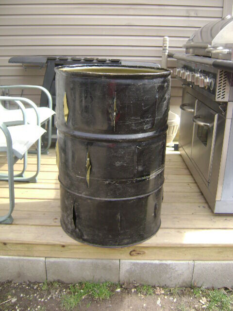55 Gallon Burn Barrel Incinerator Ebay