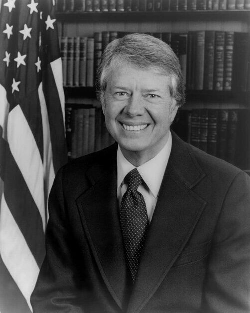 39th US President JIMMY CARTER Glossy 8x10 Photo Poster