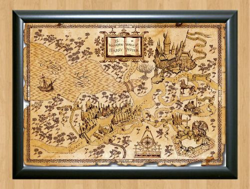 Harry Potter World Map Wall Home Decor Photo Poster Picture Print A4 ...