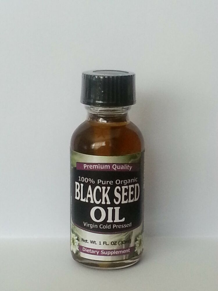 Organic cold pressed black cumin oil