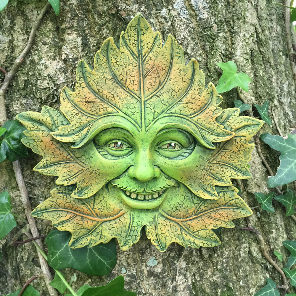 Celtic Greenman Armband: Green Forest Greenman Garden Wall Plaque Outdoor Celtic