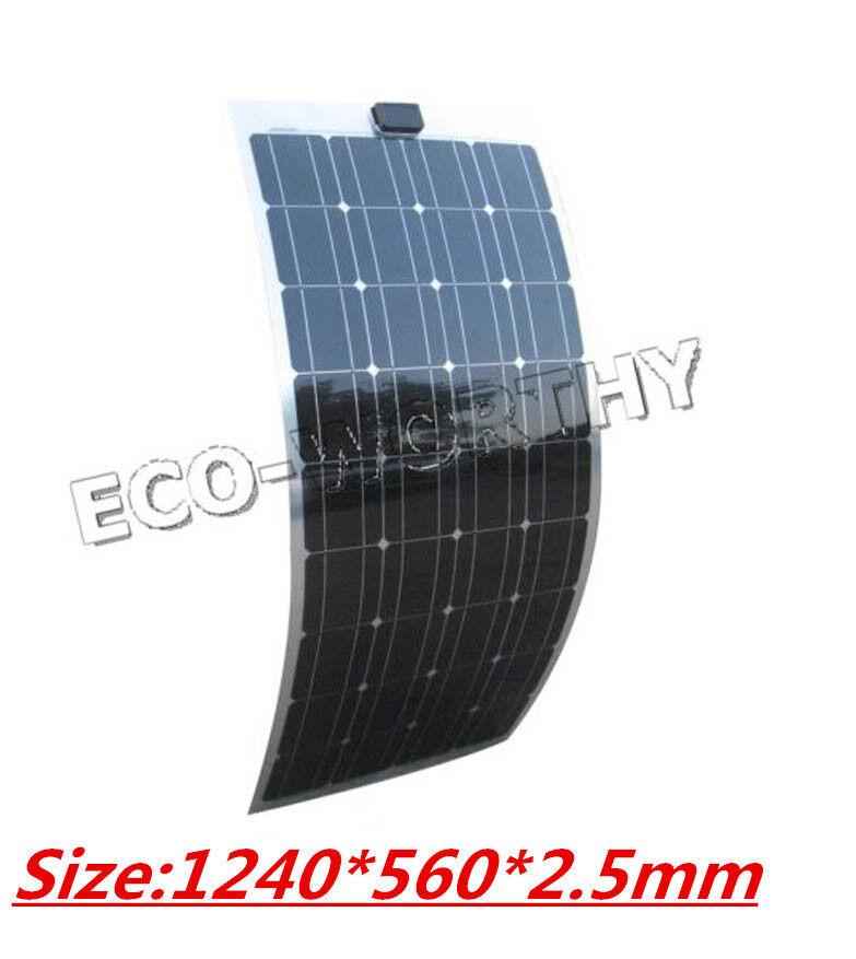 ... PV Flexible Solar Panel For Camping RV Boat Yacht Caravan Home | eBay