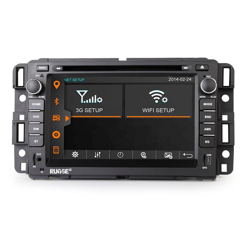us autoradio gps navigation stereo dvd for chevrolet tahoe gmc saturn outlook ebay. Black Bedroom Furniture Sets. Home Design Ideas